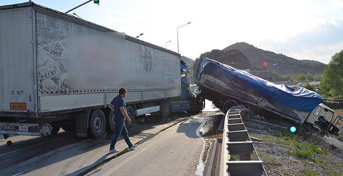 Çorum'da zincirleme trafik kazası