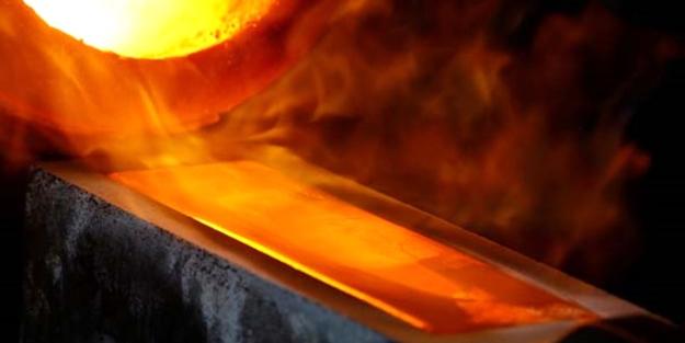 Çorum'daki altın üretim tesisi böyle görüntülendi