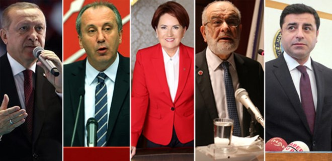 Cumhurbaşkanı adaylarının konuşma sırası belli oldu! Muharrem İnce yok