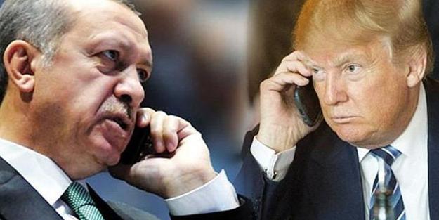 ERDOĞAN TRUMP İLE TELEFONDA GÖRÜŞTÜ