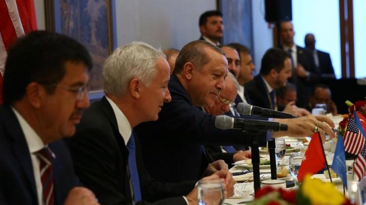 Cumhurbaşkanı Erdoğan, ABD'li yatırımcılarla buluştu