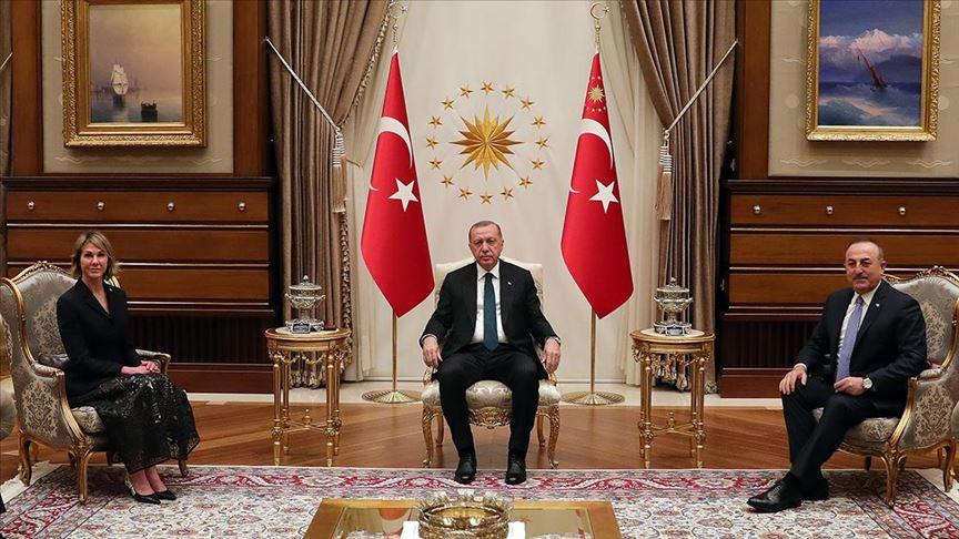 Cumhurbaşkanı Erdoğan, ABD'nin BM Daimi Temsilcisi Craft'ı kabul etti