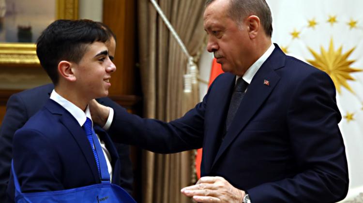 CUMHURBAŞKANI ERDOĞAN CÜNEYDİ'Yİ KABUL ETTİ