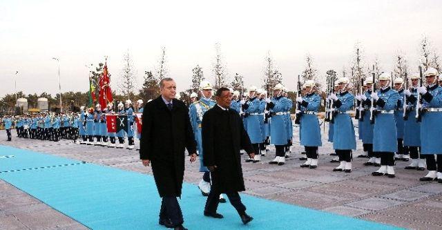 Cumhurbaşkanı Erdoğan, Teshome'yi resmi tören ile karşıladı