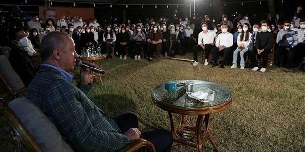 Cumhurbaşkanı Erdoğan gençlerle buluştu!