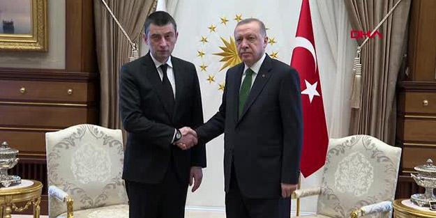 Erdoğan, Gürcistan Başbakanı'nı kabul etti