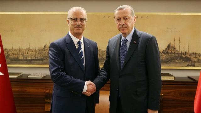 Cumhurbaşkanı Erdoğan Hamdallah'ı kabul etti