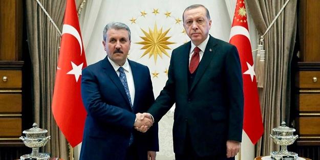 Cumhurbaşkanı Erdoğan ile Mustafa Destici arasında görüşme