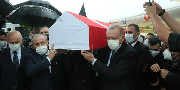 Cumhurbaşkanı Erdoğan, İsmail Uçma'nın cenazesine katıldı