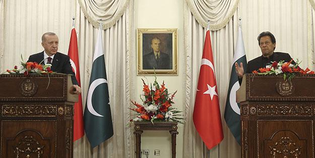 Cumhurbaşkanı Erdoğan ile İmran Han'dan ortak basın toplantısı