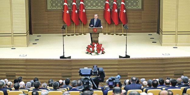 Cumhurbaşkanı Erdoğan muhtarlara hitap etti