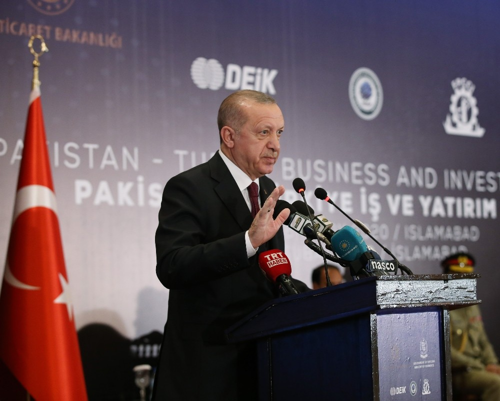 """Cumhurbaşkanı Erdoğan: """"Pakistan'la ticari ve ekonomik bağlarımızı siyasi münasebetlerimizin seviyesine çıkarmak istiyoruz"""""""