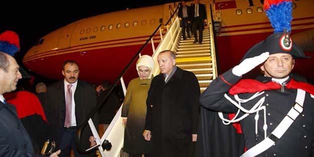 Cumhurbaşkanı Erdoğan Roma'da böyle karşılandı