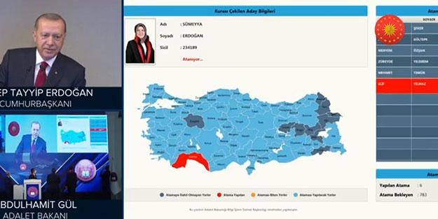 Cumhurbaşkanı Erdoğan, Sümeyya Erdoğan ismini görünce böyle takıldı: Aaa bizim akraba