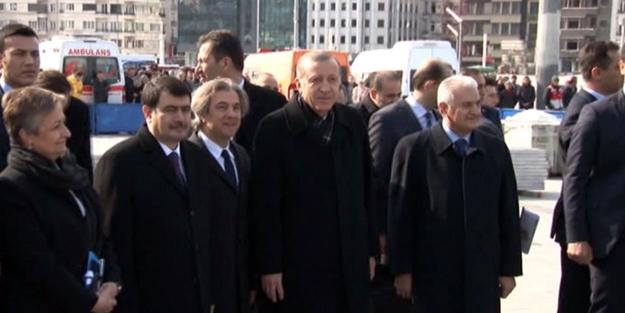 Cumhurbaşkanı Erdoğan Taksim Meydanı'da