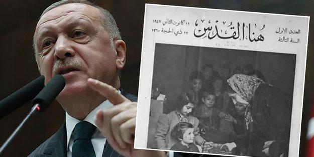 Cumhurbaşkanı Erdoğan, tarihi fotoğrafla Yunanistan'a tepki gösterdi