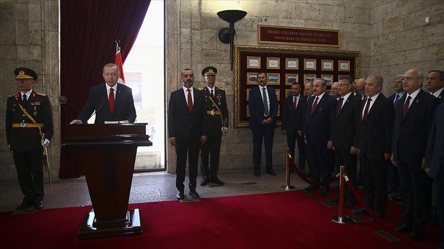 Cumhurbaşkanı Erdoğan: Terör koridorunu dağıtarak kararlılığımızı tüm dünyaya gösterdik