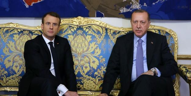 Cumhurbaşkanı Erdoğan ve Macron açıklama yaptı
