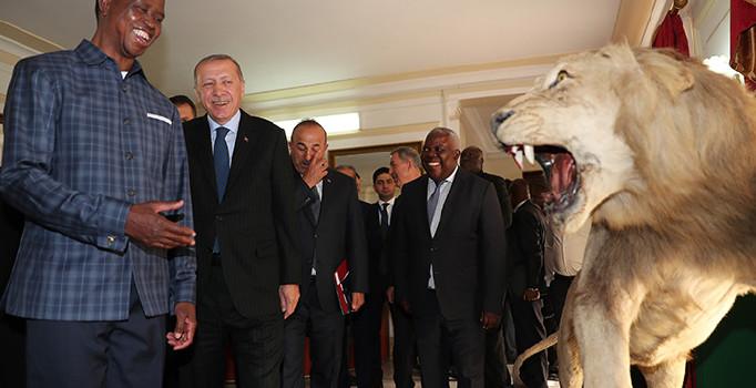 Cumhurbaşkanı Erdoğan: Zambiya ile 12 anlaşma imzalayacağız