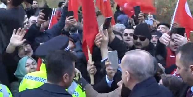 Cumhurbaşkanı Erdoğan'a Londra'da sevgi seli!