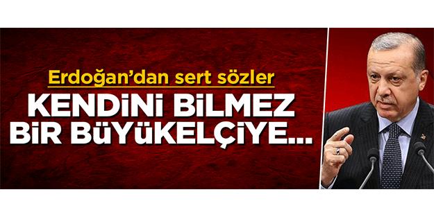 Cumhurbaşkanı Erdoğan'dan ABD'ye çok sert sözler: Kendini bilmez bir büyükelçiye…