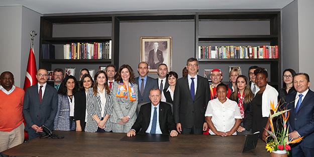 Cumhurbaşkanı Erdoğan'dan Güney Afrika'da açılış