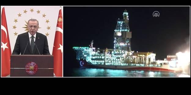 Cumhurbaşkanı Erdoğan'dan önemli açıklamalar! Karadeniz doğal gazında ilk ateş