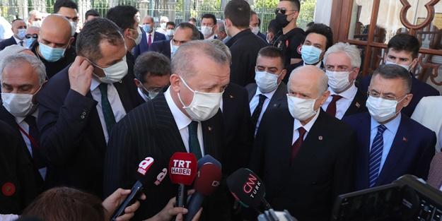 Cumhurbaşkanı Erdoğan'dan tarihi namaz sonrası ilk açıklama