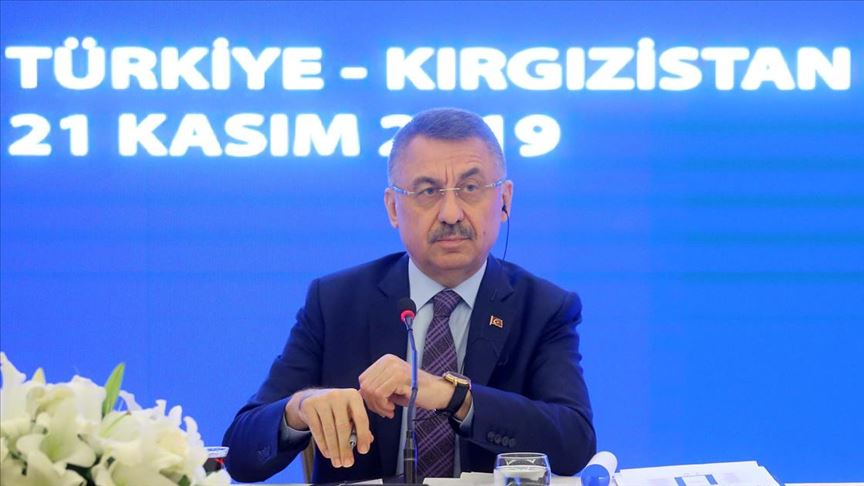 Cumhurbaşkanı Yardımcısı Fuat Oktay: Kırgızistan ile atılabilecek adımları bir takvime bağlamış olduk