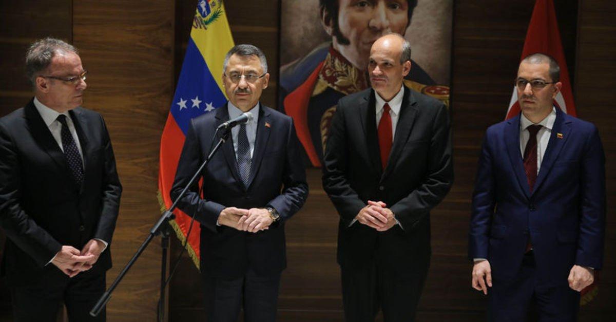 Cumhurbaşkanı Yardımcısı Fuat Oktay, Venezuela'da