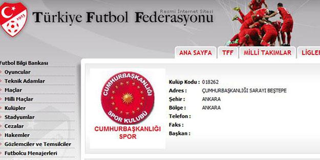 Cumhurbaşkanlığı Spor Kulübü kuruldu