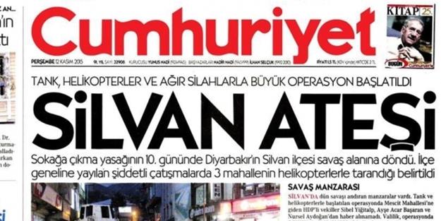 cumhuriyet gazetesi silvan ateşi ile ilgili görsel sonucu