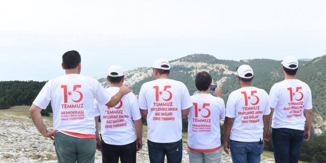 15 Temmuz Zirve Tırmanışı yapıldı