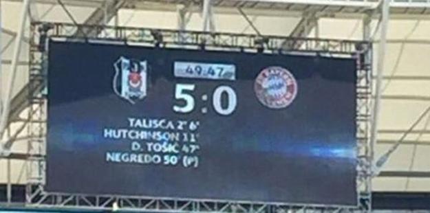 Dakika 50! Beşiktaş 5 Bayern Münih 0