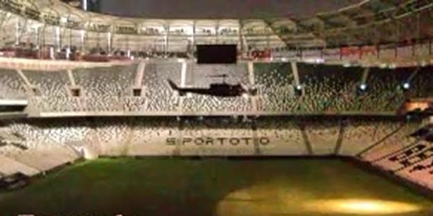 Darbecileri Beşiktaş Arena'ya kadın pilot indirmiş