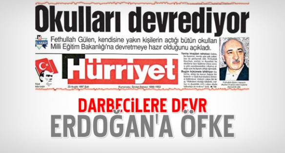 Darbeciye okul Erdoğan'a öfke