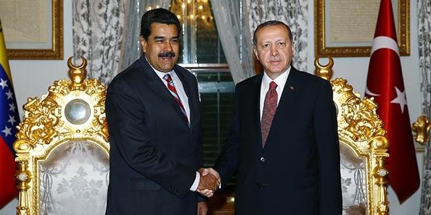 Darbe girişimini bertaraf eden Maduro Türkiye'ye geliyor