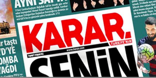 Davutoğlu'nun gazetesinden rezil