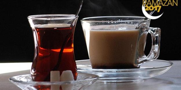''Demli çay kahve ve asitli içecekle oruç açmayın''