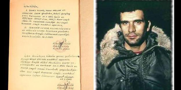 Deniz Gezmiş'in idam hükmü satıldı