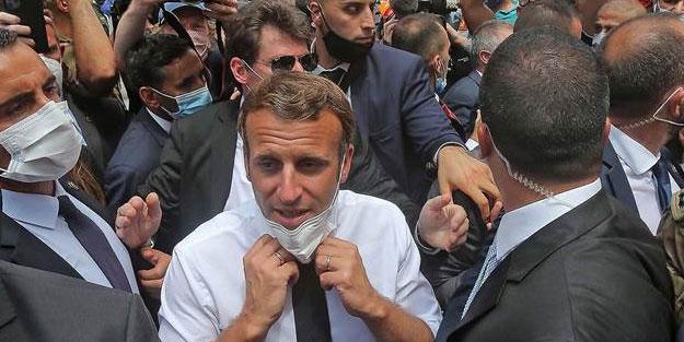 Denize düşen yılana sarılır! Lübnan halkı Macron'dan yardım istedi