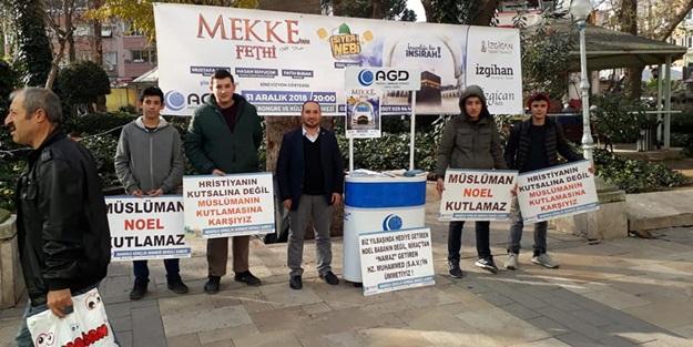 Denizli AGD Lise Komisyonundan müslüman yılbaşı kutlamaz eylemi