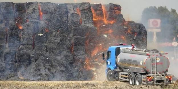 Depoda yangın çıktı! 30 bin ton...