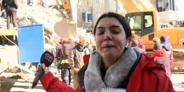 Deprem bölgesindeki muhabirin zor anları! Gözyaşlarını tutamadı