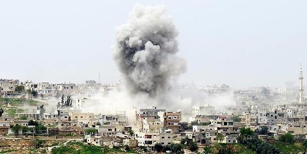 Dera'da hava saldırılarında 10 ölü
