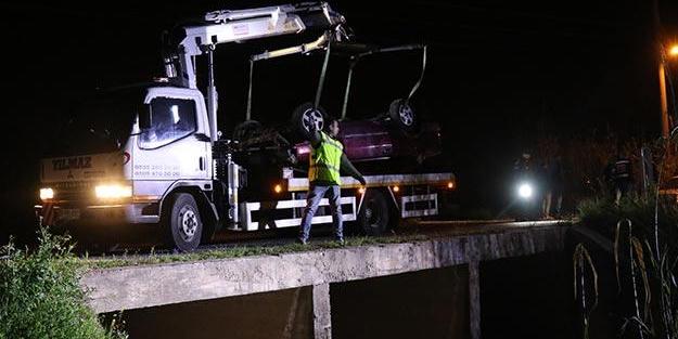 Dere yatağına devrilen otomobilin sürücüsü hayatını kaybetti