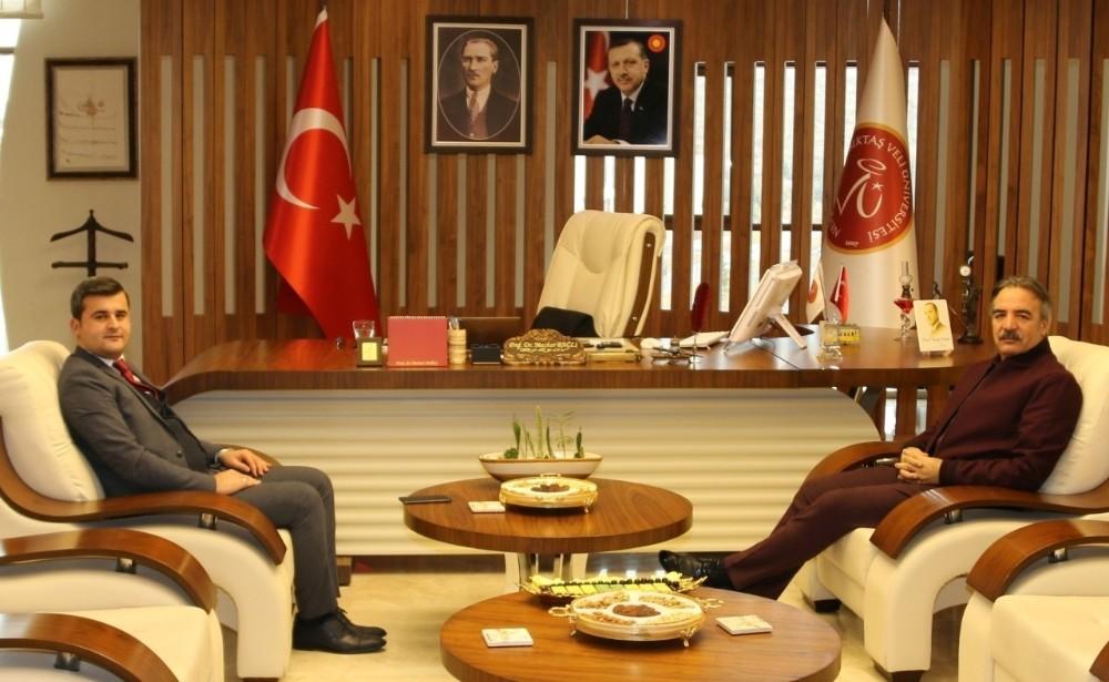 Derinkuyu Kaymakamı Kumcu'dan Rektör Bağlı'ya ziyaret