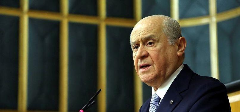 Devlet Bahçeli MHP'nin referandum sloganını açıkladı