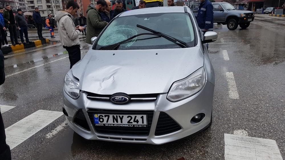 Devrek'te trafik kazası: 1 yaralı