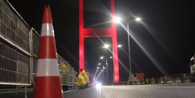 Dikkat! 15 Temmuz Şehitler Köprüsü trafiğe kapatıldı